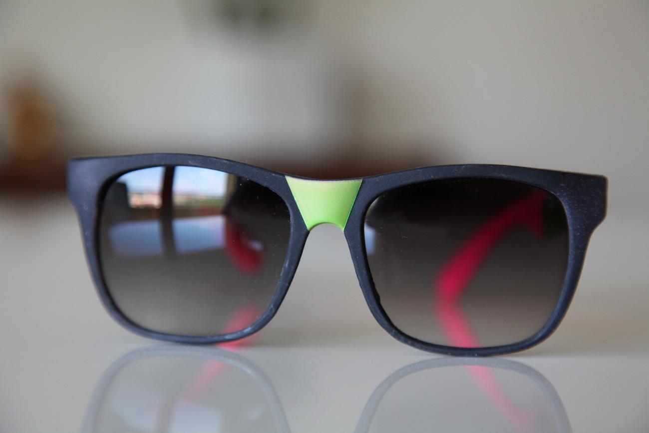 Classic Tortoise Sunglasses Black/ Neon Bright Pink/Olive/ Rubber/ / Dark Lenses