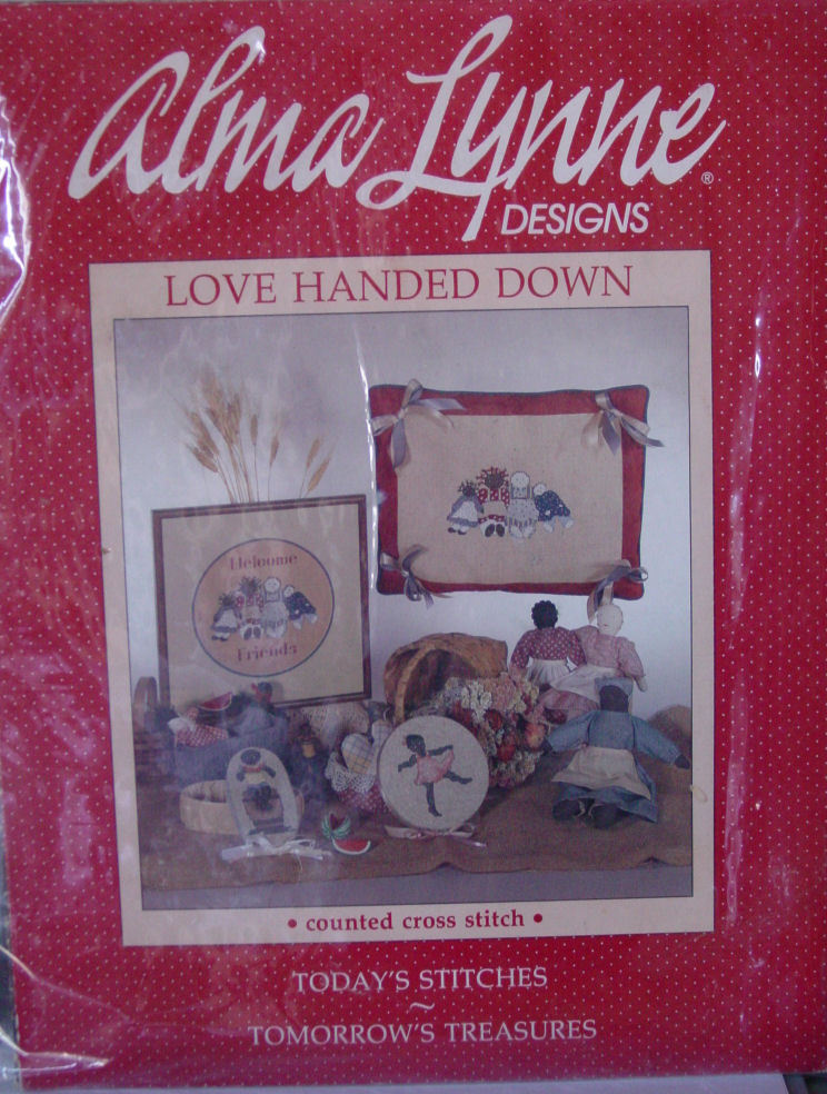 "Primary image for Pattern Cross Stitch Leaflet ""Love Handed Down"" Rag Doll Pictures"