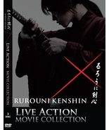 DVD SAMURAI X RUROUNI KENSHIN 3 IN 1 LIVE ACTION MOVIE ( ENGLISH SUBTITLE ) - $20.99