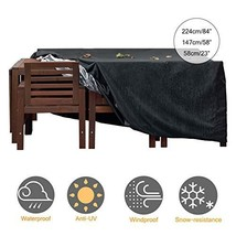 KGYA Patio Furniture Cover, Waterproof Sofa Cover, Large Outdoor Section... - $27.76