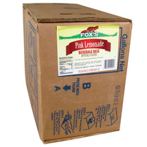 Fox's Bag In Box Pink Lemonade Syrup - 5 Gallon - $74.99