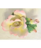 Large Ceramic Peace Rose Figurine - $49.00
