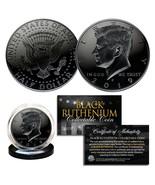 2019 BLACK RUTHENIUM JFK Kennedy Half Dollar U.S. Coin w/COA (Philadelph... - $10.36