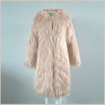 White Shaggy Long Sleeve Tuscan Spotted Leopard Cat Faux Fur Short Coat Jacket image 2