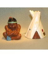American Indian and Tepee Salt Pepper Shakers 1950'S - $12.99