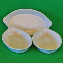 Set Of 3 Vintage Inter American Porcelain (Poland) Individual Casserole ... - $7.95