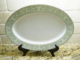 "Sango China Buckingham 14 1/4"" Oval Serving Platter green - $21.77"