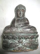 SO RARE! Big Ancient Phra Bua-Khem Khmer Style Statue Top Thai Buddha Amulets - $69.99