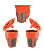 Keurig 2.0 k carafe k cups refillable k cup  coffee filter reusable carafe 3 pack thumbtall