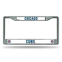 CHICAGO CUBS CAR AUTO CHROME METAL LICENSE PLATE FRAME MLB BASEBALL - $13.92