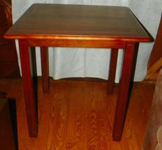 Mahogany Ribbon Inlaid Game Table / Center Table - $399.00