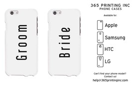 Matching Couple Phone Cases - Groom and Bride - His and Hers - $19.99