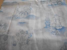 Daisy Kingdom White Bunny Novelty Fabric with Blue Print - $20.00