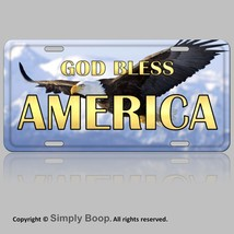 Patriotic Eagle God Bless America Aluminum Vani... - $13.36
