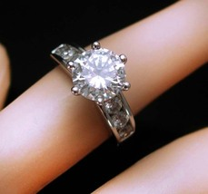 Solitaire Engagement Ring HUGE Flashy CZ Diamond Brillaint Sparkling Wed... - $85.00