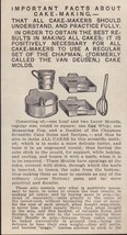 A 1917 Illustrated Advertising Flier for Chapman Cake Molds , scarce item - $21.78