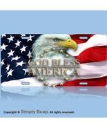 Patriotic Eagle USA God Bless America Aluminum Vanity License Plate Tag ... - $13.36