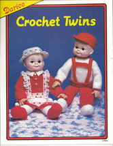 Crochet Twins Doll Patterns 18 inches tall Boy & Girl by Darice 37004  - $6.50