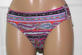 NEW Lucky Brand Bohemian Delight Tab Side Hipster Bikini Bottom size L L... - $7.91
