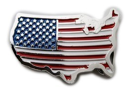 Men Women Silver Metal Western Belt Buckle United States America Flag Co... - $17.63