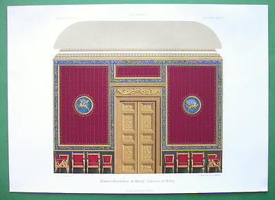 ARCHITECTURE COLOR PRINT : Germany Royal Palace at Berling Wall Decoration