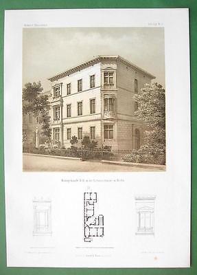 ARCHITECTURE PRINT : Berlin Apartment Building in Victoria Strasse no. 11
