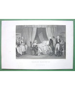 G. WASHINGTON Last Moments - 1860s Antique Print Engraving - $27.72