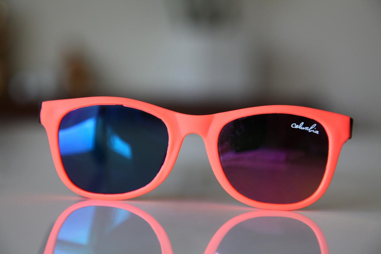 Classic Tortoise Sunglasses Neon Orange/ Rubber/ Black/ Iridescent Lenses