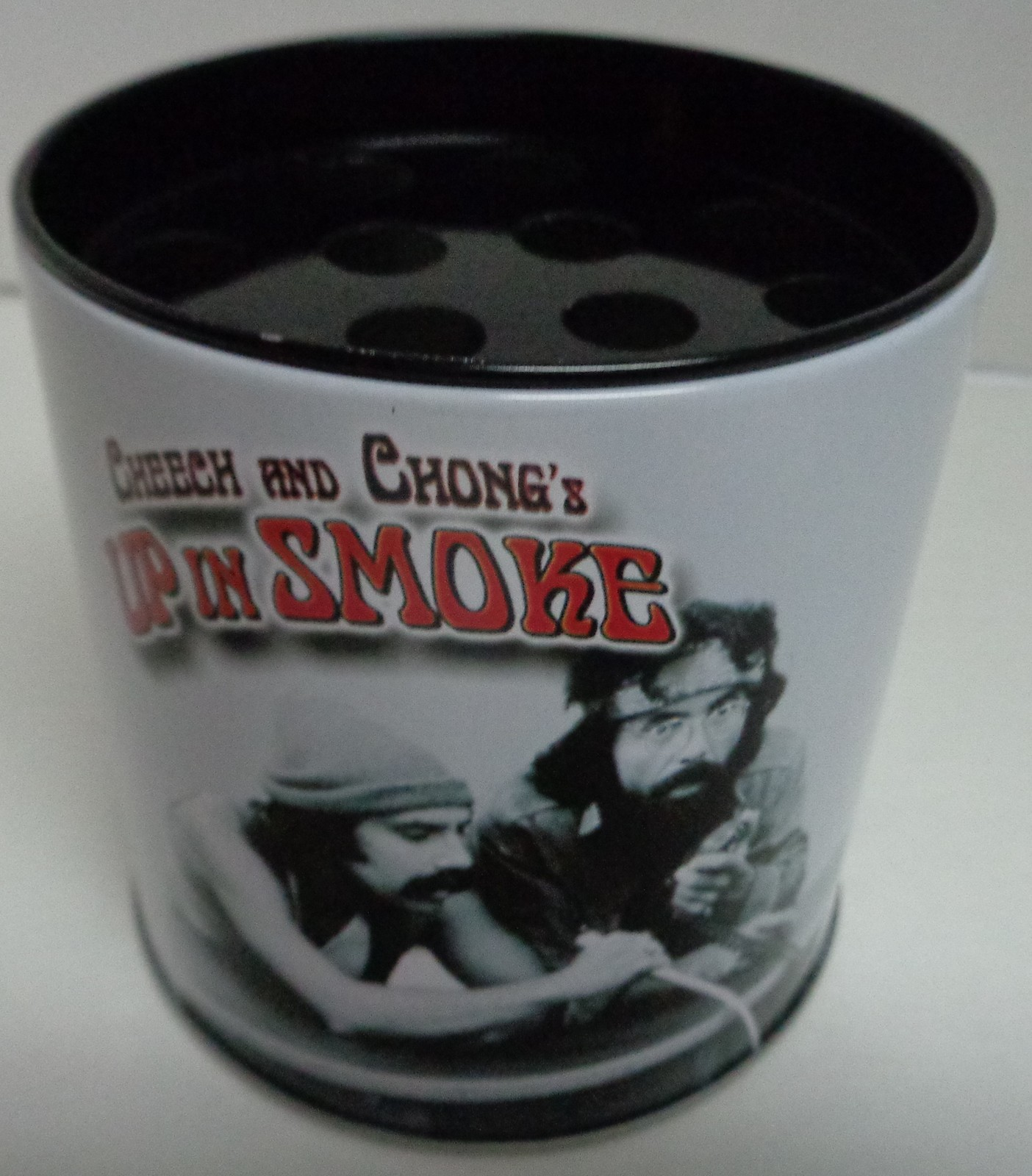 Cheech & Chong Up in Smoke On Mic Collectible Ashtray Storage Tin NEW