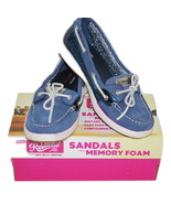 Anchors Away Skechers Relaxed Fit Memory Foam Women's Boat Shoes Size 8 - $24.99