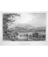 GERMANY View of Wolfenbuttel - 1860 Original En... - $39.55