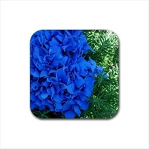 Blue Hydrageas Flowers Non-Slip Coaster Set - $6.74