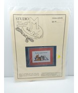 Studio M Cross Stitch Kit 11386 This Place Is Going To The Dogs! Aida Floss - $14.99