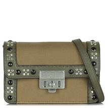 MARC JACOBS CANVAS ESPIONAGE 18 MILITARY GREEN CROSS-BODY BAG - $236.61