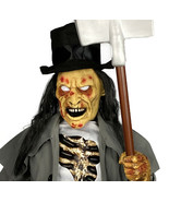 3Ft ANIMATED CROUCHING GRAVE DIGGER Zombie Lighted Halloween Prop Decora... - $218.47