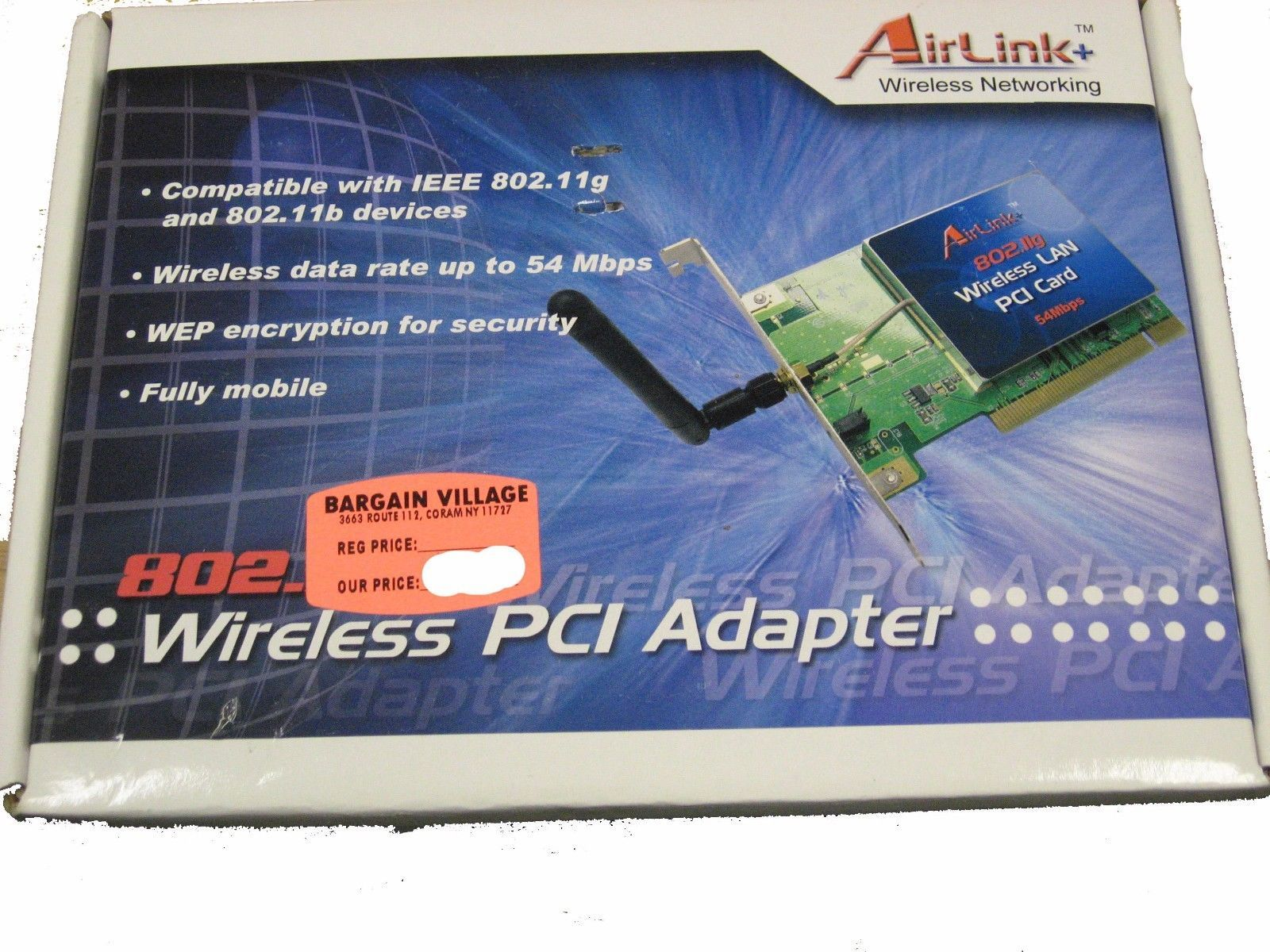 AIRLINK WIRELESS PCI ADAPTER