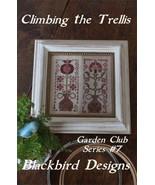 Climbing The Trellis #7 Garden Club Series cross stitch chart Blackbird ... - $8.10