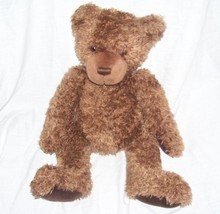 "Gund CORDUROY PAWS Brown Bear Plush 11"" Sitting, 15"" Long - $14.96"