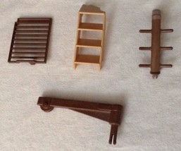 REPLACEMENT Playmobil  Noah`s Ark # 3255 Boat LOT Stairs Gate Pole 4 Pie... - $11.53