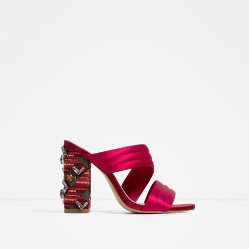 034867c5bfe Bnwt Zara Fuchsia Silk Slingback Sandals and 50 similar items. 12