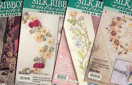 4 Bucilla Silk Ribbon Embroidery Transfer Patterns~Lot D - $11.30