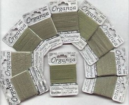 24mm Hunter Green Silk/Organza Ribbon for Embroidery 40 Paks Bucilla - $14.89