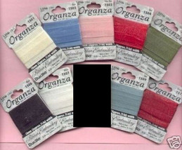 Silk/Organza Ribbon 18pks 9 Primary Colors~18mm*** - $11.30