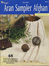 Crochet Pattern Book: Crochet Aran Sampler Afghan; Needlecraft Shop - $6.00