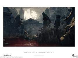 "Bloodborne Hunter's Nightmare Lithograph 18"" x ... - $49.95"