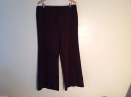 Dunnes Stores Women's US Size 18, 18W EU 46 Brown Dress Pants Slacks Wide Leg