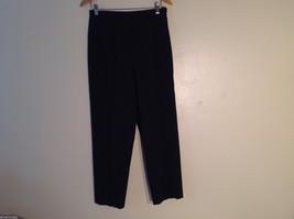 Jones & Co. Women's Size 10 Black Dress Pants Pinstriped No Pockets Side Zipper