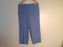 Haggar Men's Size XL 42/30 Dress Pants Light Blue Comfort Waist Straight Leg Cut