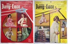 "2 Crochet Pattern Books: Jiffy-Lace - Otherwise Known as ""Broomstick Lace"" - $5.00"