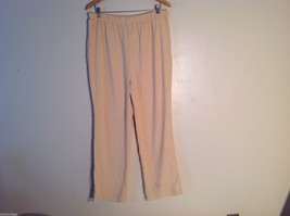 No Brand Women's Size 22 Pants Yellow Rayon-Blend Elastic Pull-On Straight Leg